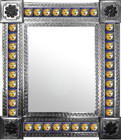 mexican wall mirror with traditional tiles