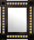 traditional mexican wall mirror with tiles