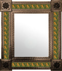 mexican wall mirror countryside frame