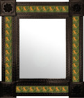 countryside mexican wall mirror with tiles