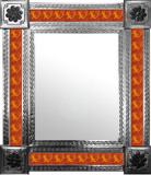 mexican wall mirror with classic tiles