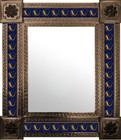 mexican wall mirror folk art frame