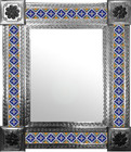 mexican wall mirror with old world tiles