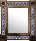 mexican wall mirror old world frame