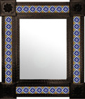 old world mexican wall mirror with tiles