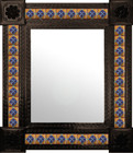 classic colonial mexican wall mirror with tiles