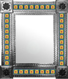 mexican wall mirror with Guanajuato tiles