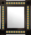 Guanajuato mexican wall mirror with tiles