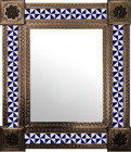 mexican wall mirror colonial hacienda frame