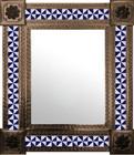 mexican wall mirror colonial hacienda frame