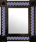 colonial hacienda mexican wall mirror with tiles