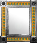mexican wall mirror with European tiles