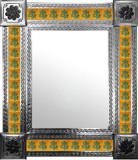 mexican wall mirror with European tiles