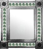 mexican wall mirror with hacienda tiles
