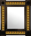 conventional mexican mirror decorated with tiles