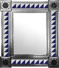 mexican mirror with hand punched tiles