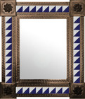 mexican mirror hand punched frame