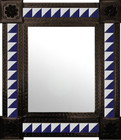 hand punched mexican mirror decorated with tiles