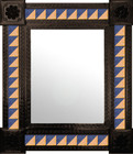 handmade mexican mirror decorated with tiles