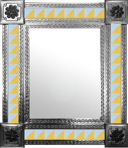 mexican mirror with modern tiles