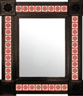 fabricated mexican mirror decorated with tiles