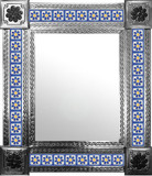 mexican mirror with produced tiles