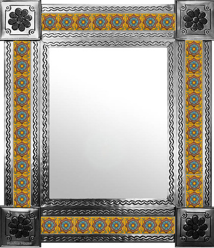 mexican mirror with created tiles