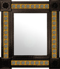 created mexican mirror decorated with tiles