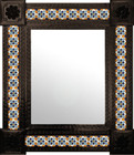 handcrafted mexican mirror decorated with tiles