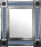 mexican mirror with countryside tiles