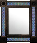 countryside mexican mirror decorated with tiles