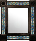 classic mexican wall mirror with tiles