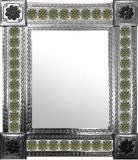 mexican mirror with old world tiles