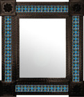 classic colonial mexican mirror decorated with tiles