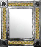 mexican mirror with Guanajuato tiles