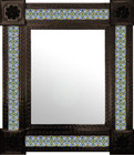 colonial hacienda mexican mirror decorated with tiles