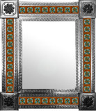 mexican mirror with Spanish tiles