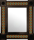 Spanish mexican mirror decorated with tiles