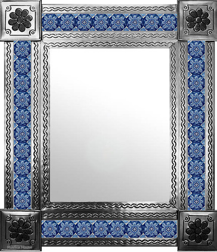 mexican mirror with hacienda tiles
