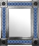 mexican mirror with hacienda tiles