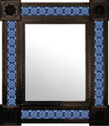 hacienda mexican mirror decorated with tiles
