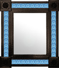 San Miguel mexican mirror decorated with tiles