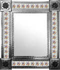 mexican mirror with colonial tiles