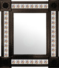 colonial mexican mirror decorated with tiles