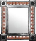 mexican mirror with rustic tiles