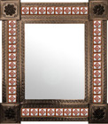 mexican mirror rustic frame
