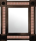 rustic mexican mirror decorated with tiles
