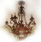 tall ceiling iron chandelier