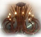 custom iron chandelier