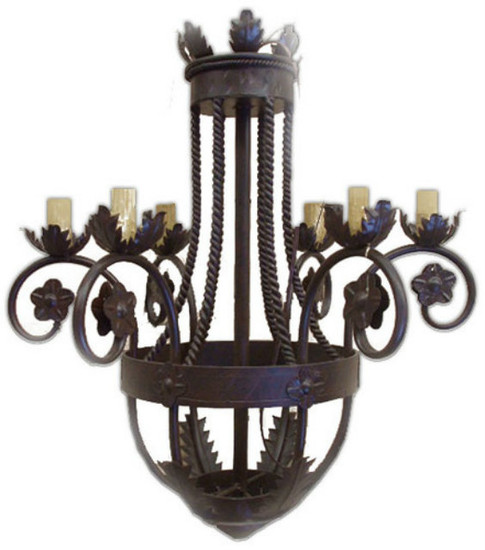 custom made iron chandelier